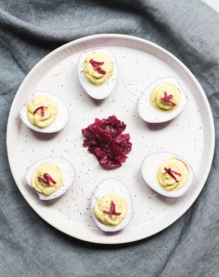 deviled eggs cabbage