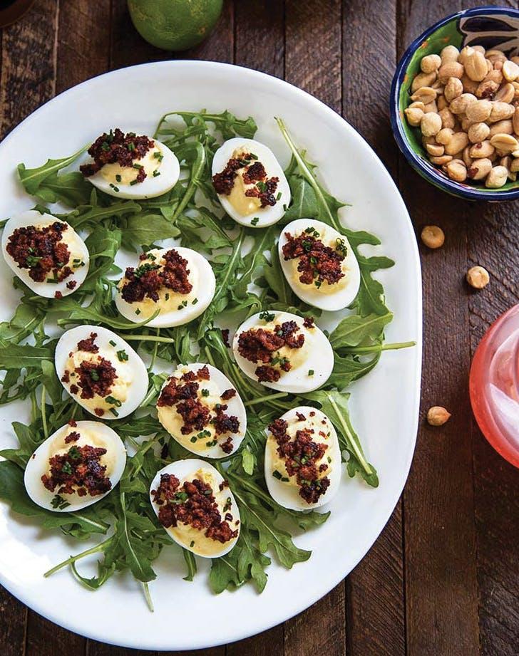 deviled eggs chorizo