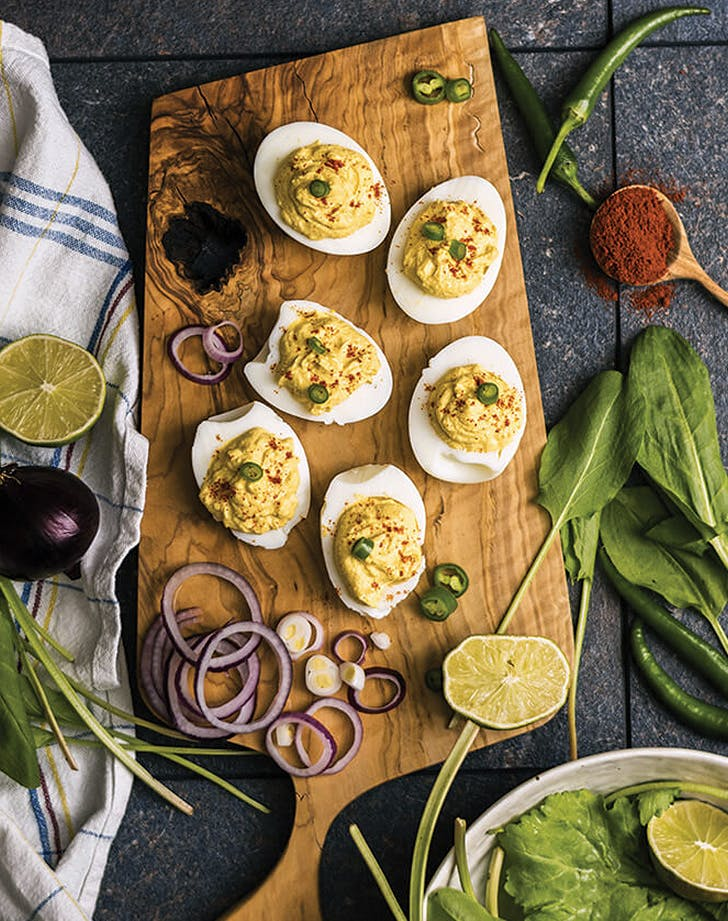 deviled eggs greek yogurt