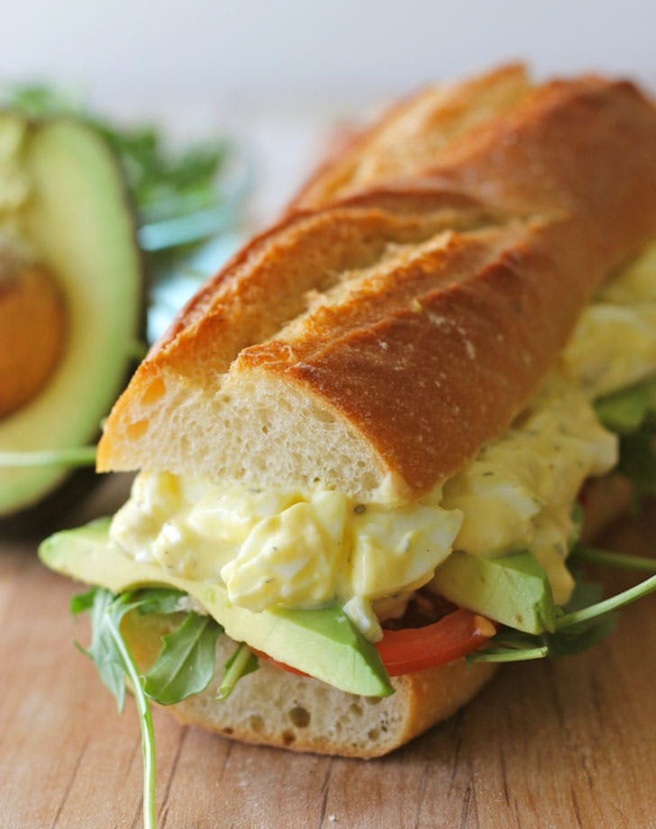 egg salad sandwich vertical