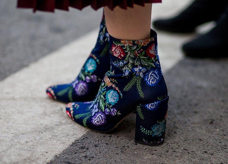 florals booties