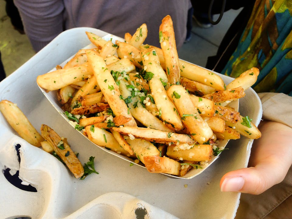 garlic fries at   t park san francisco iconic foods