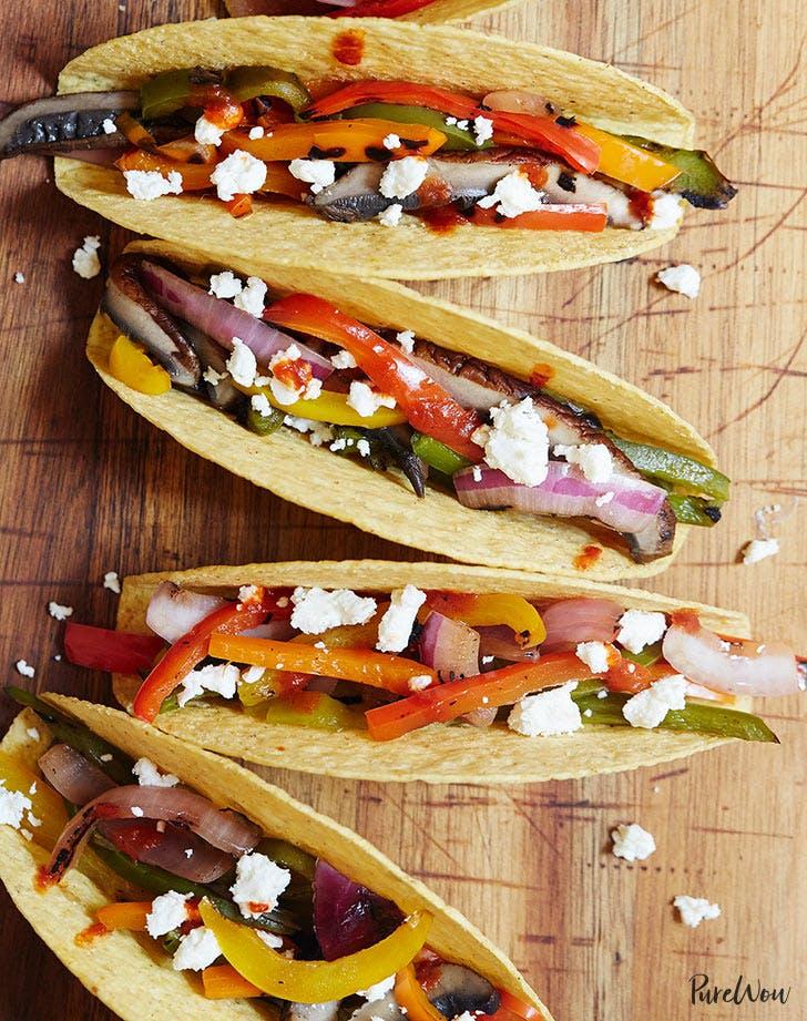 grilled veggie tacos vertical