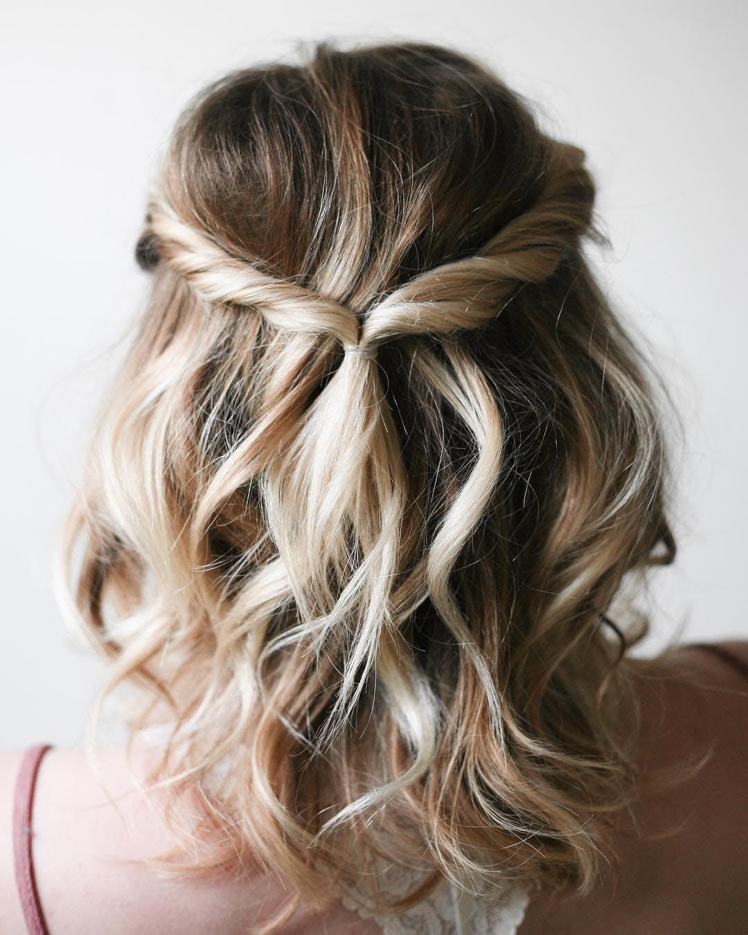 half up twist chicago hair ideas