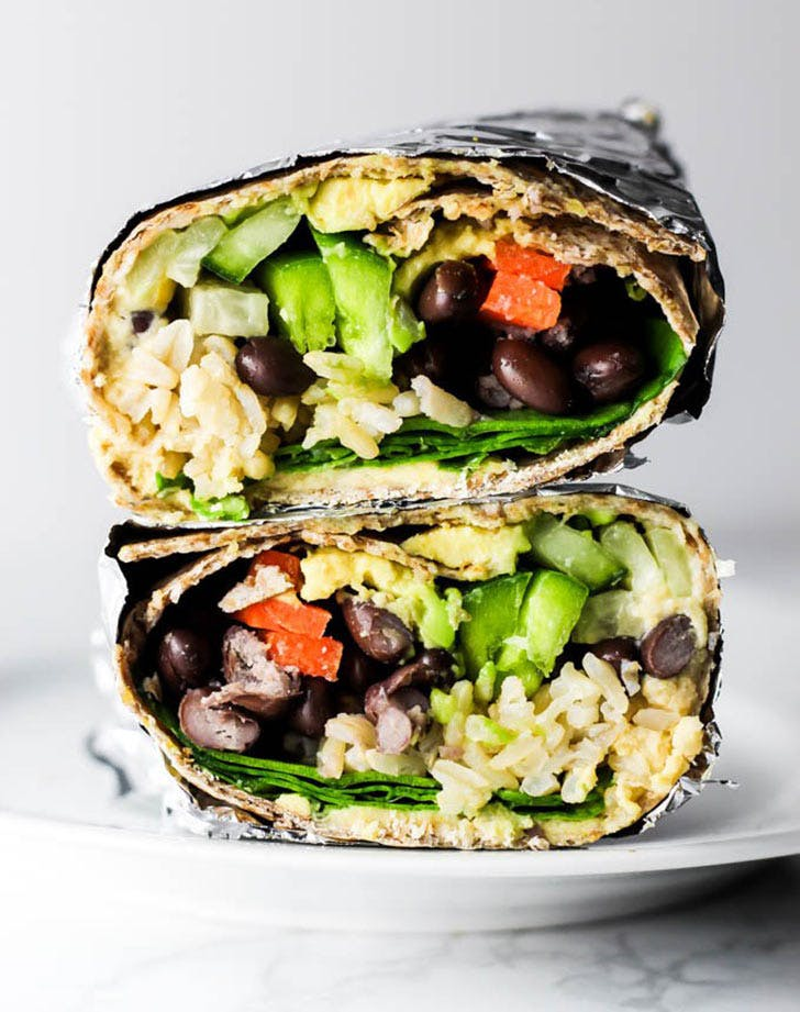 hummus vegetable wrap vertical