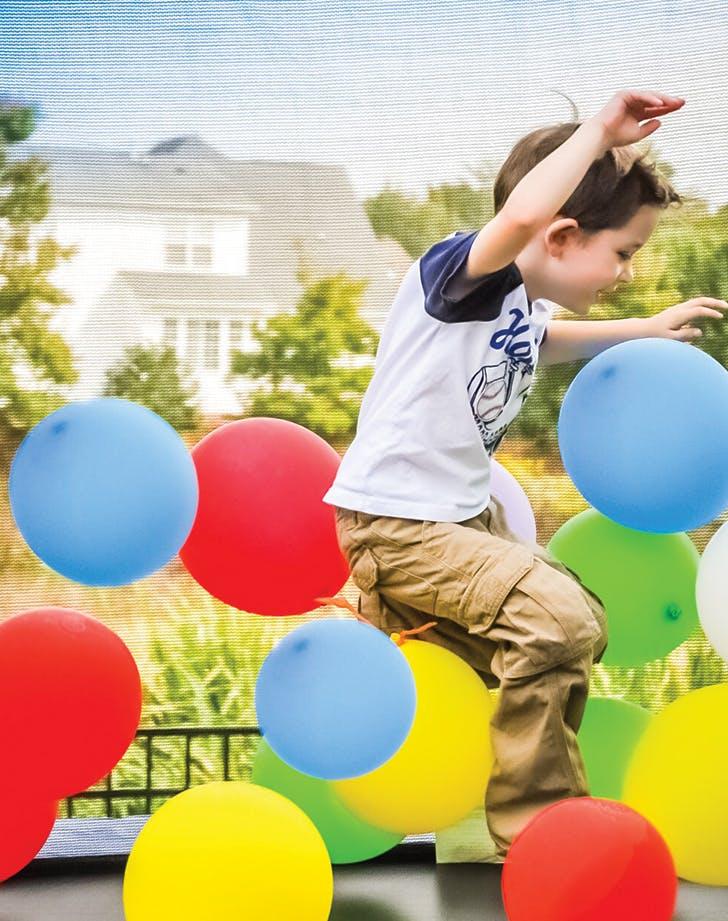kids birthday trampoline