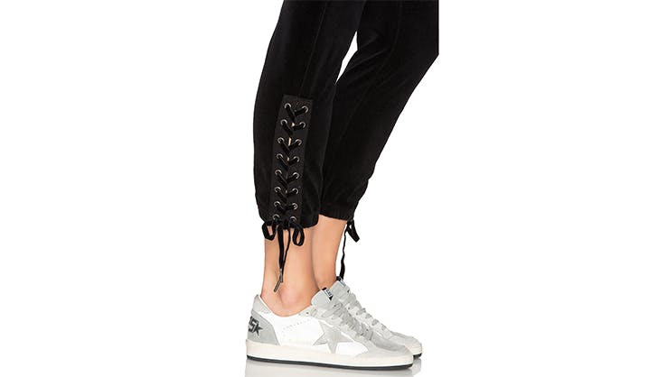 laceup detail los angeles sweatpants
