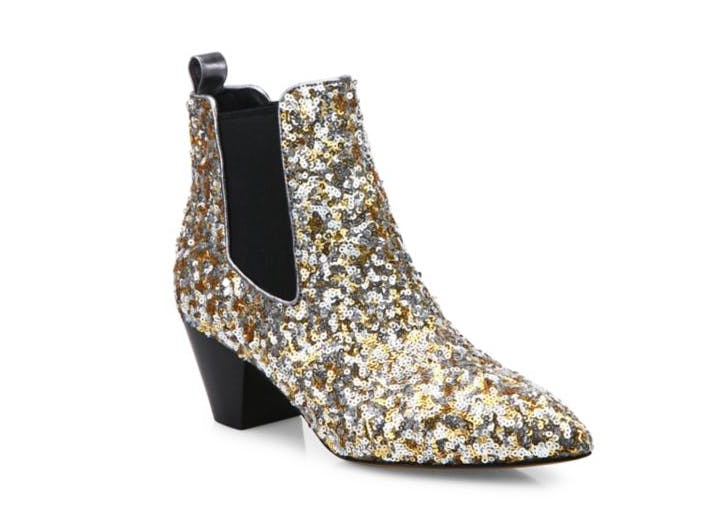 marc jacobs sequin chelsea boots NY