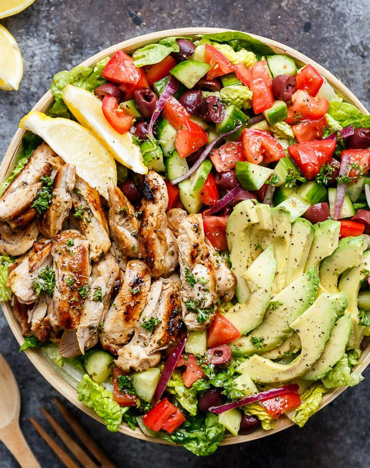 mediterranean chicken salad vertical