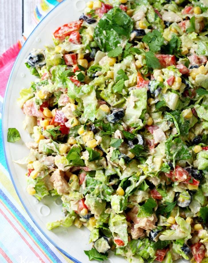 mexican chopped tuna salad vertical