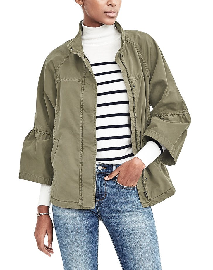 military jacket bell sleeves