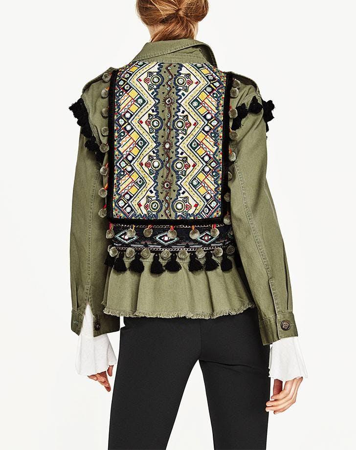 military jackets zara