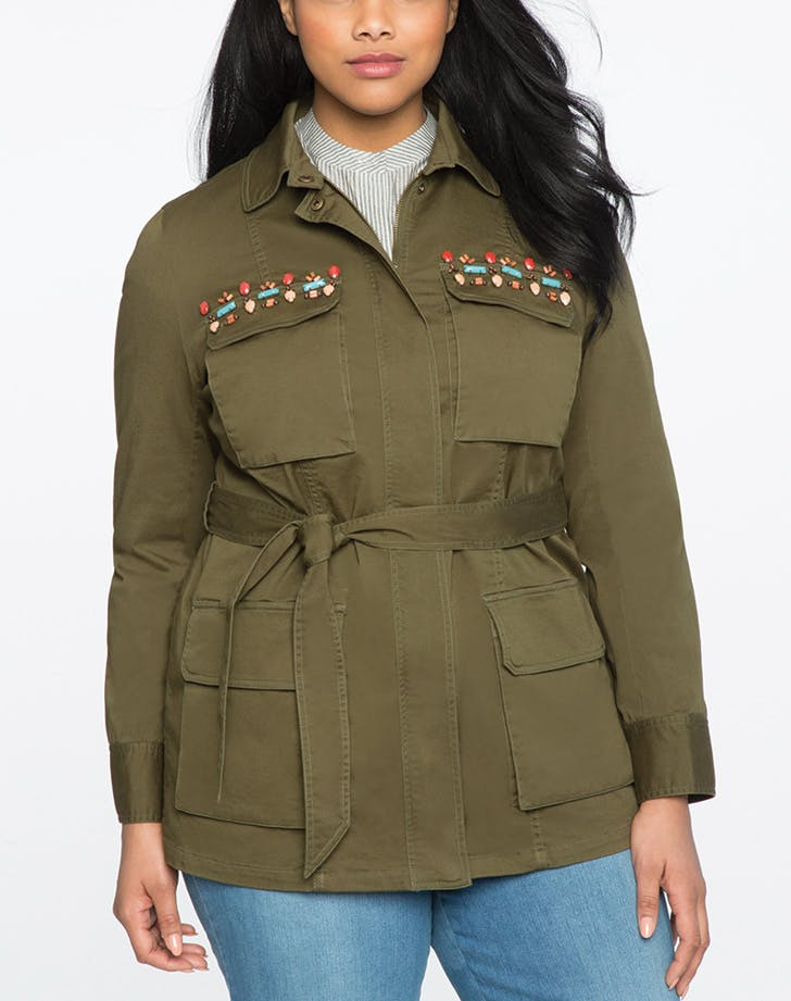 millitary jacket bejeweled