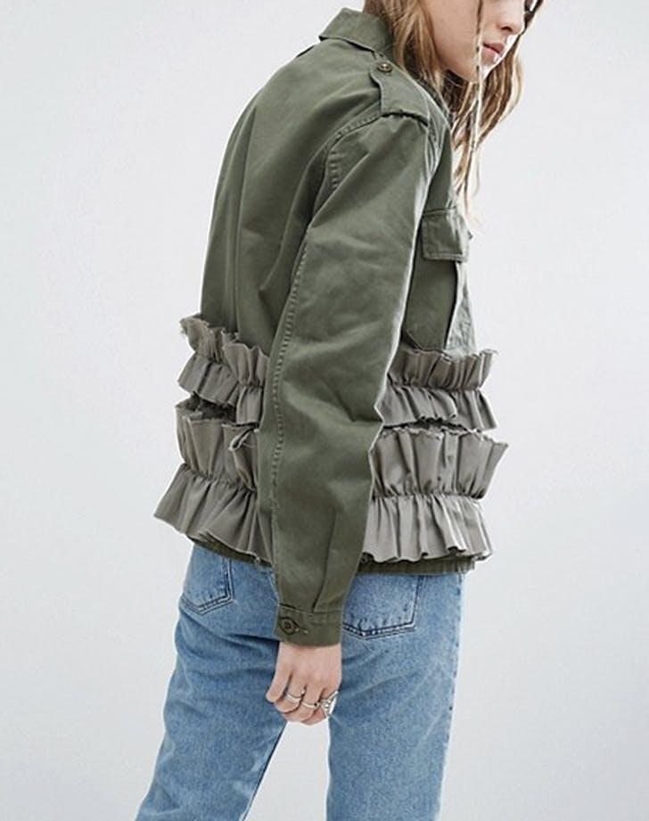 millitary jacket ruffles
