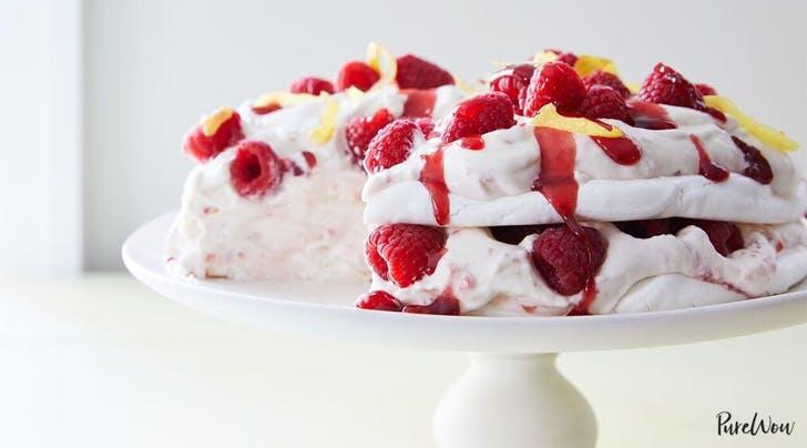 Gluten-Free Lemon-Raspberry Pavlova