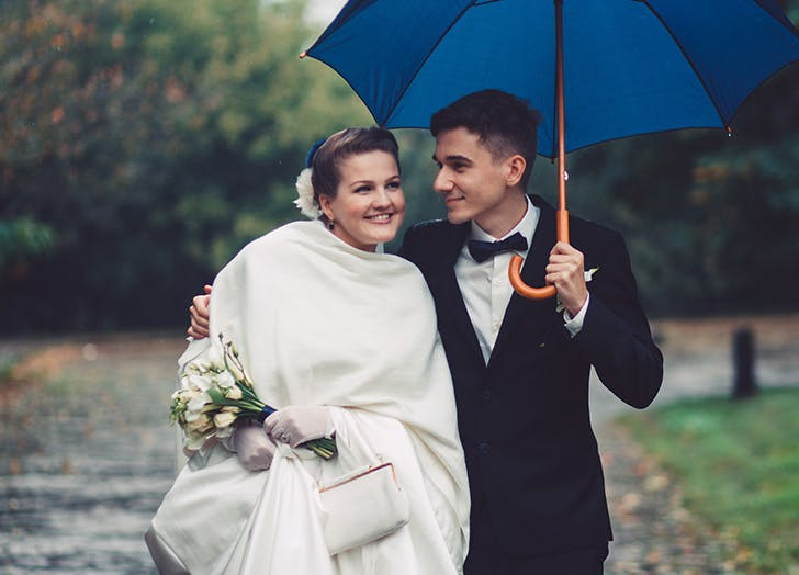 raindy wedding blue