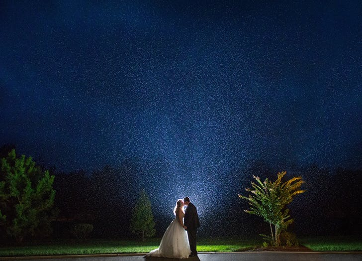 rainy wedding stars