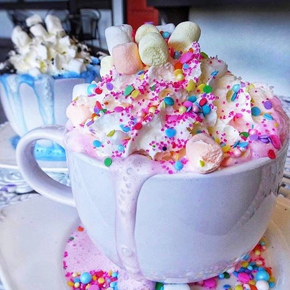unicorn hot chocolate los angeles photoshopped