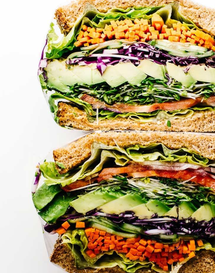 veggie sandwich vertical