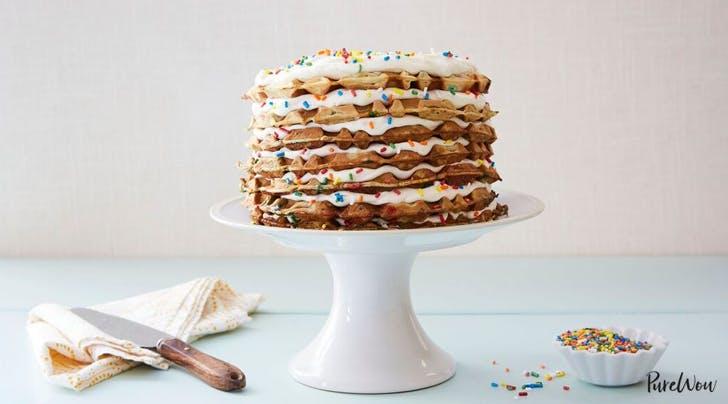 Rainbow Waffle Cake