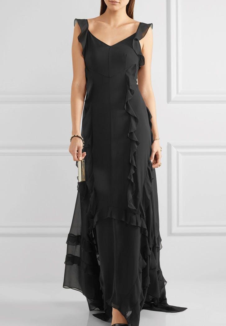wedding dress black