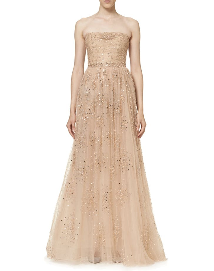 wedding dress champagne