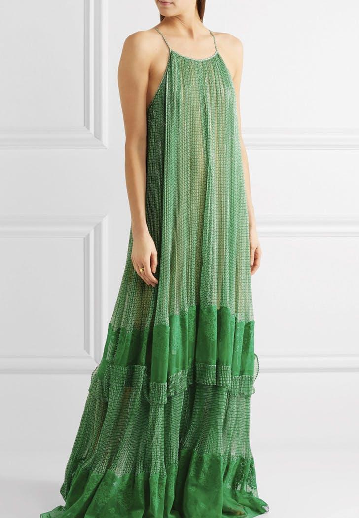 wedding dress green
