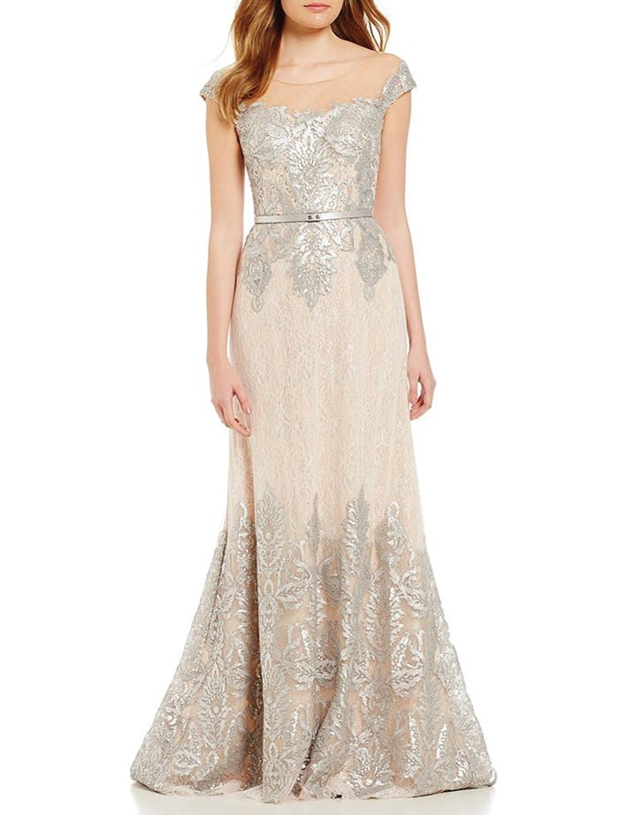 wedding dress metallic