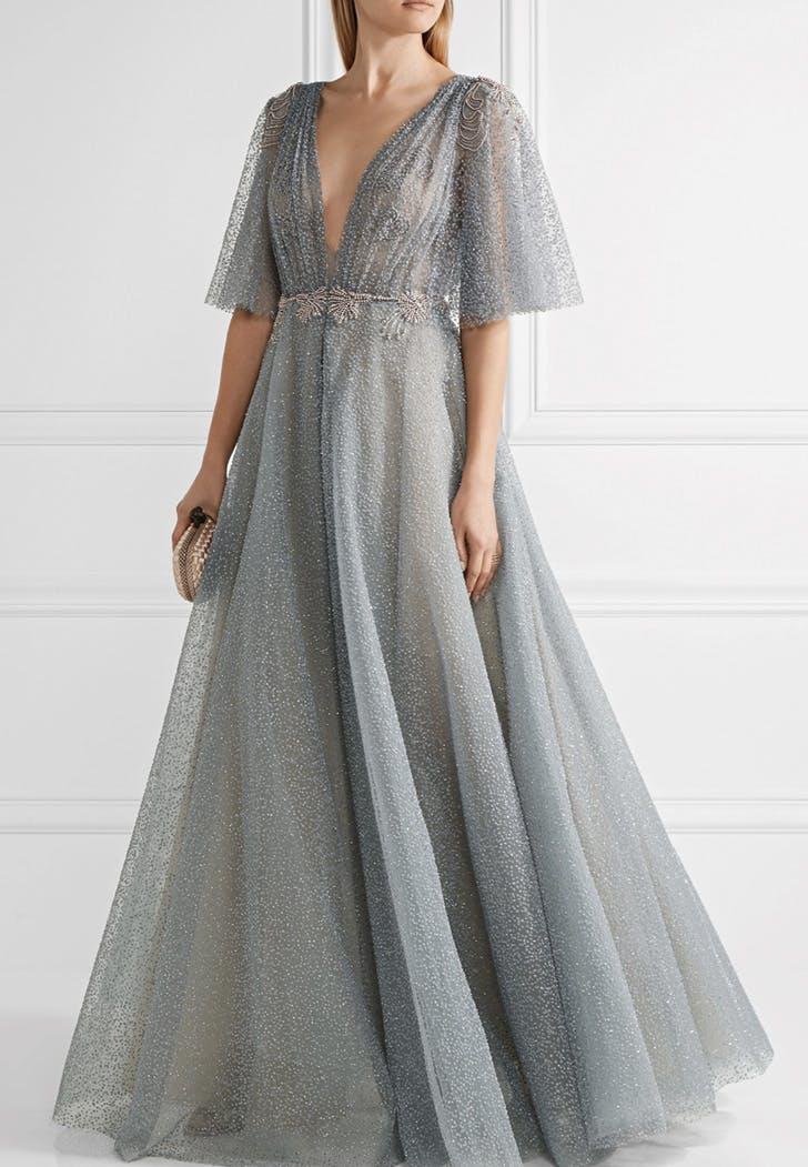wedding dress periwinkle