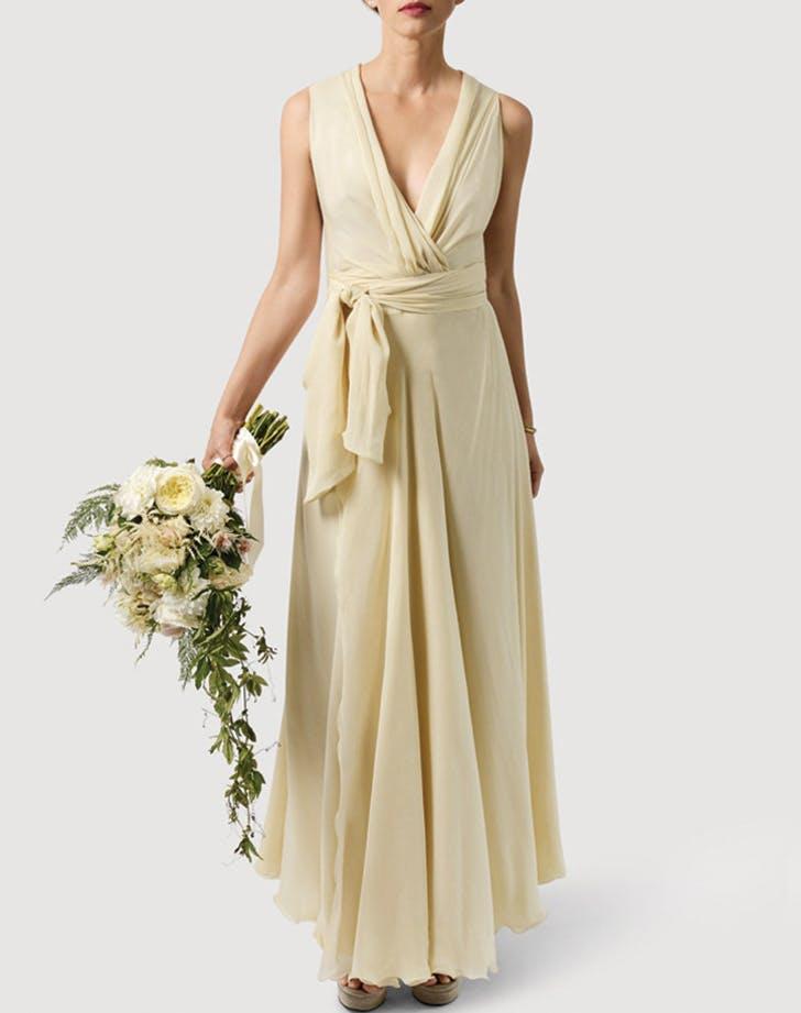 wedding dress yellow