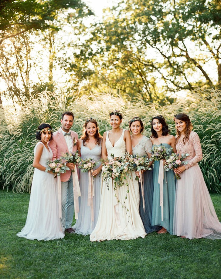 12 nontraditional wedding ideas purewow rock a coed bridal party junglespirit