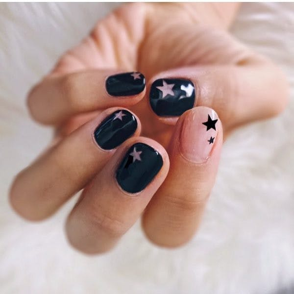 2 grown up nail art flowidity106 stars