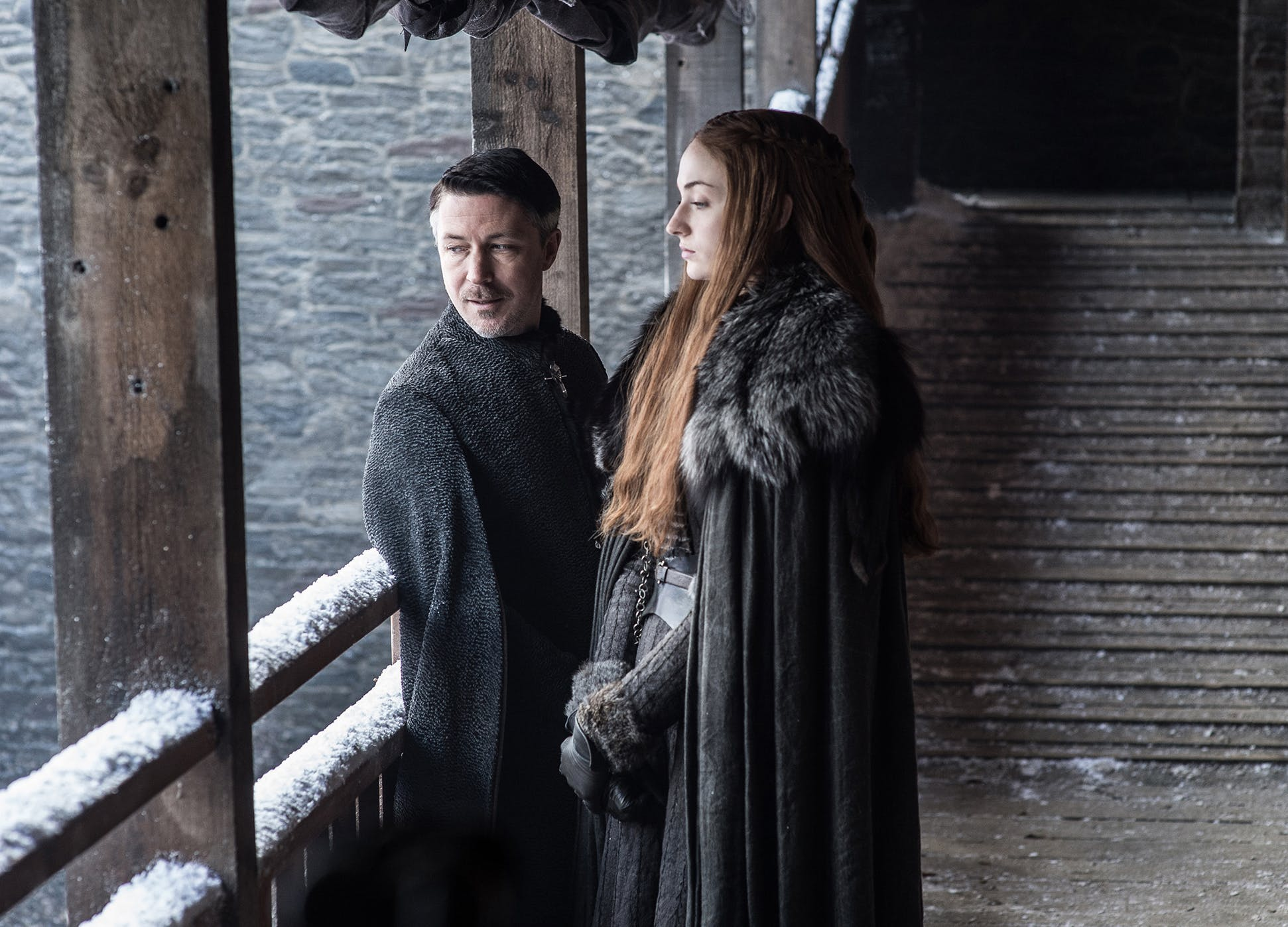 Aiden Gillen Sophie TurnerGame of thrones season 7