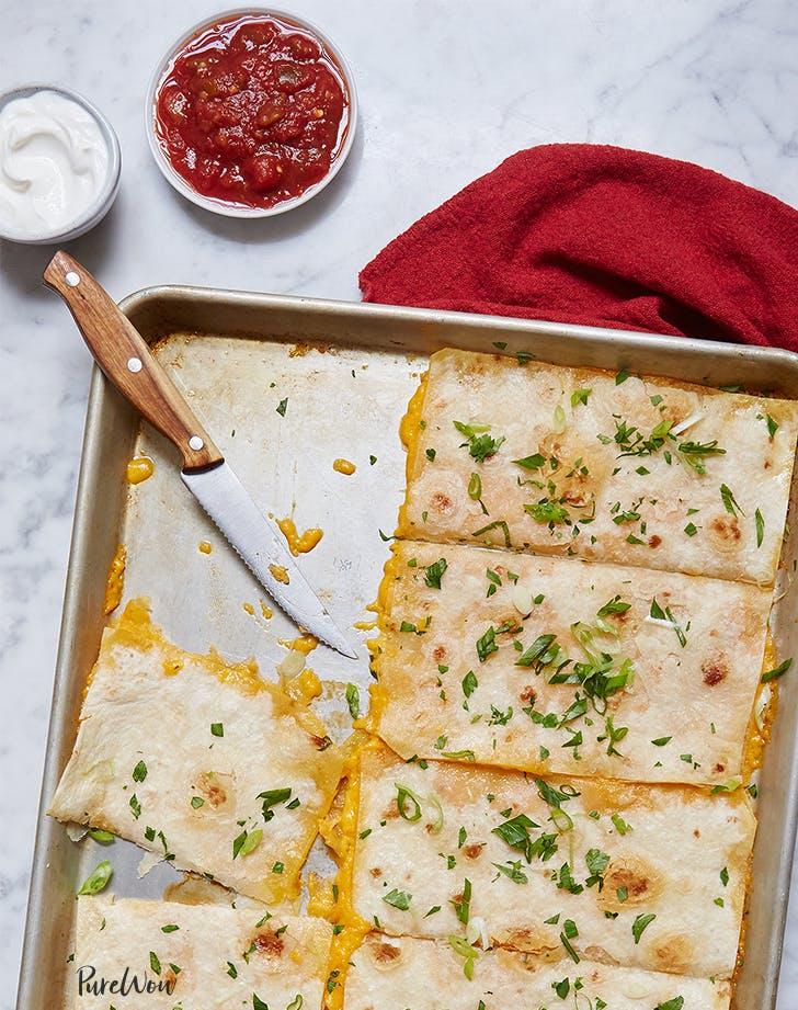 Baking Sheet Quesadillas