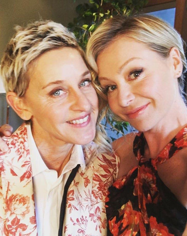 Celebrity Vegetarians Ellen Degeneres Portia de Rossi