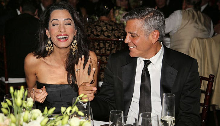 George and Amal Clooney Celebrity Proposals
