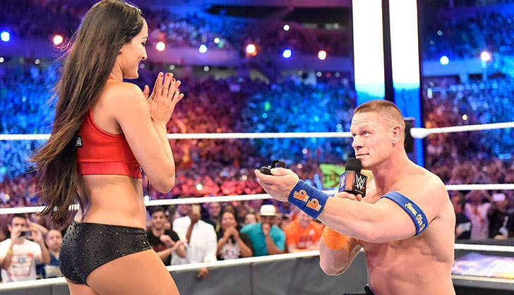 John Cena Nikki Bella Celebrity Proposals