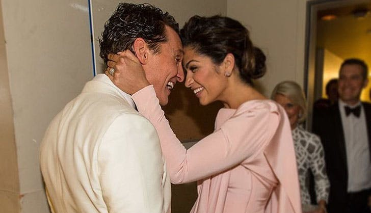Matthew McConaughey Camila Alves Celebrity Engagements