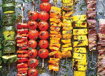 Rainbow Vegetable Kabobs damn delicious