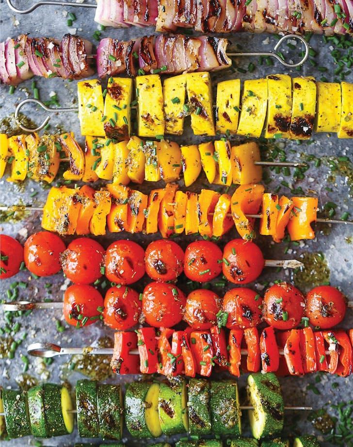 Rainbow Vegetable Kabobs damn delicious1