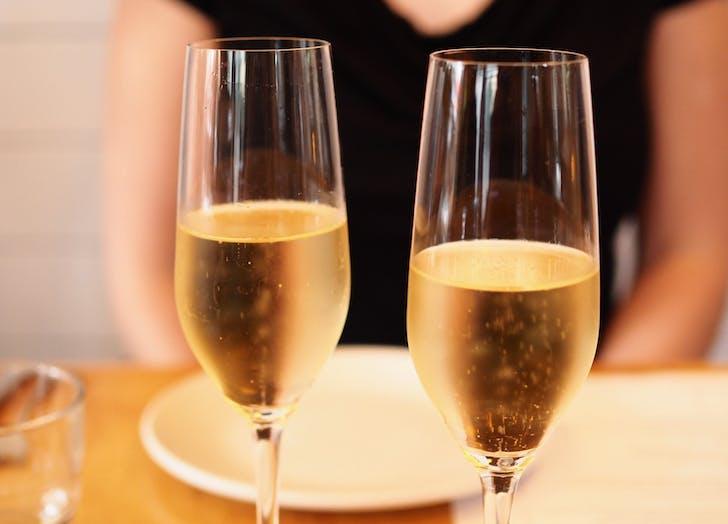 annoy waiter champagne