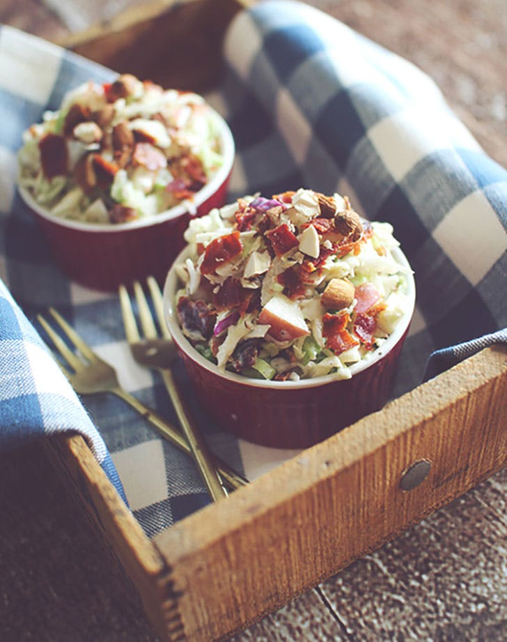 apple bacon coleslaw dashing dish