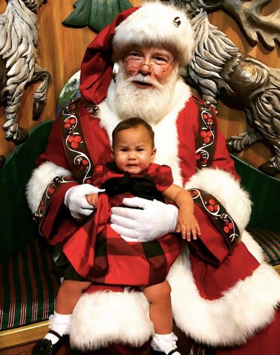 baby luna santa clause