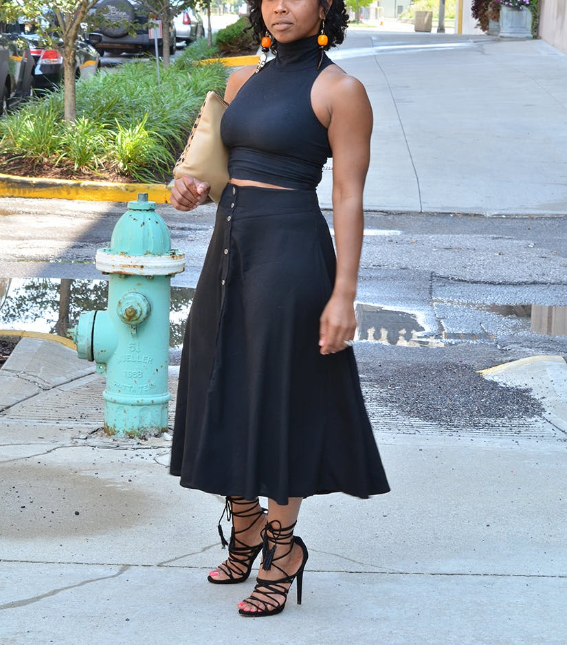 balance sweenee style all black summer outfits