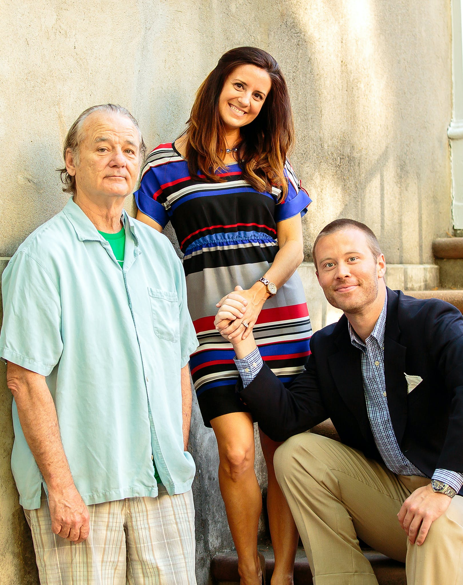 bill murray engagement photo shoot