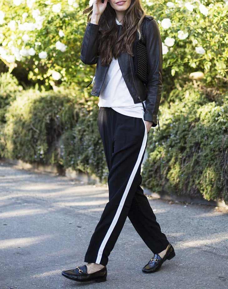 black track pants sweatpants NY