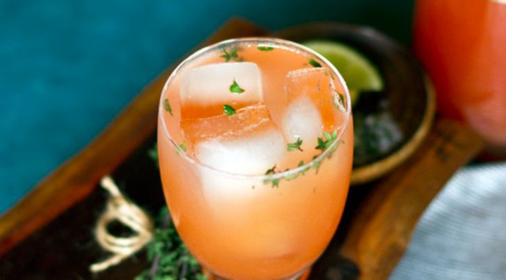Blood-Orange Thyme Paloma Cocktail