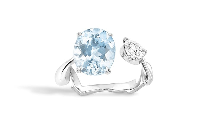blue dior colorful engagement rings