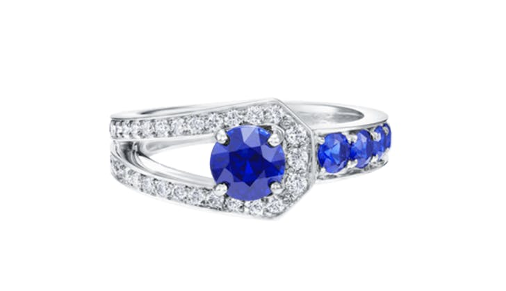 blue harry winston colorful engagement rings