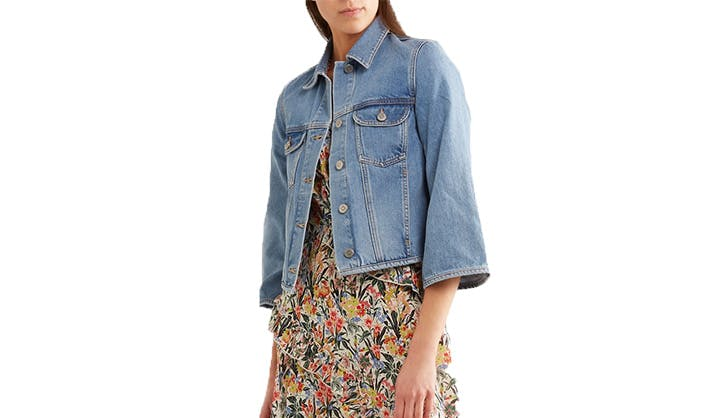 cropped mih denim jacket
